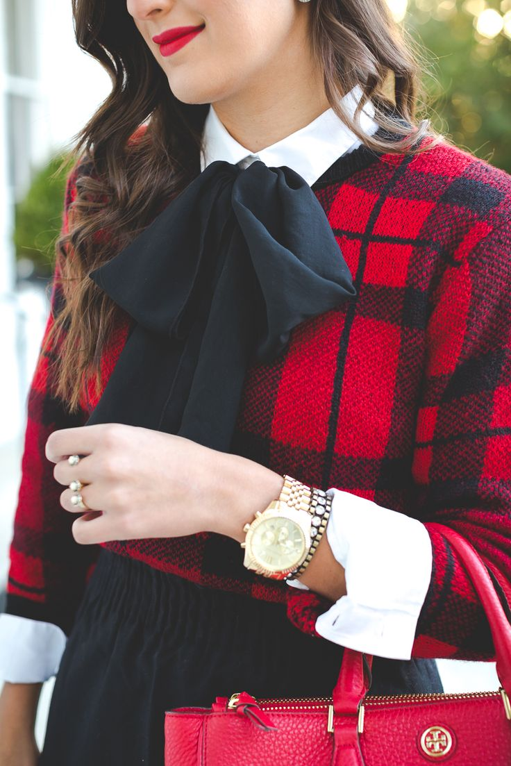 holiday dressing bow blouse