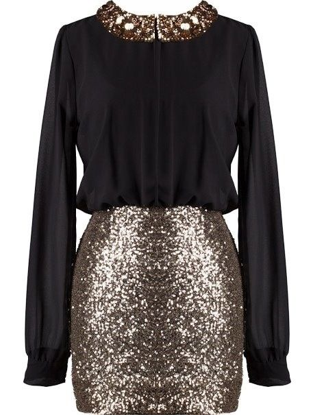 holiday outfit sequin skirt