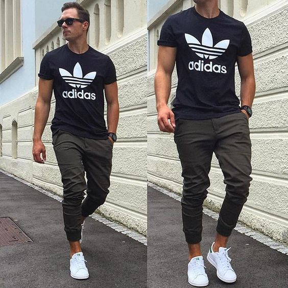 men athletic chino and shoes