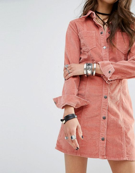 corduroy shirtdress